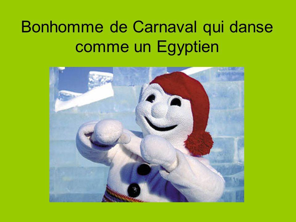 Bonhomme de Carnaval qui danse comme un Egyptien
