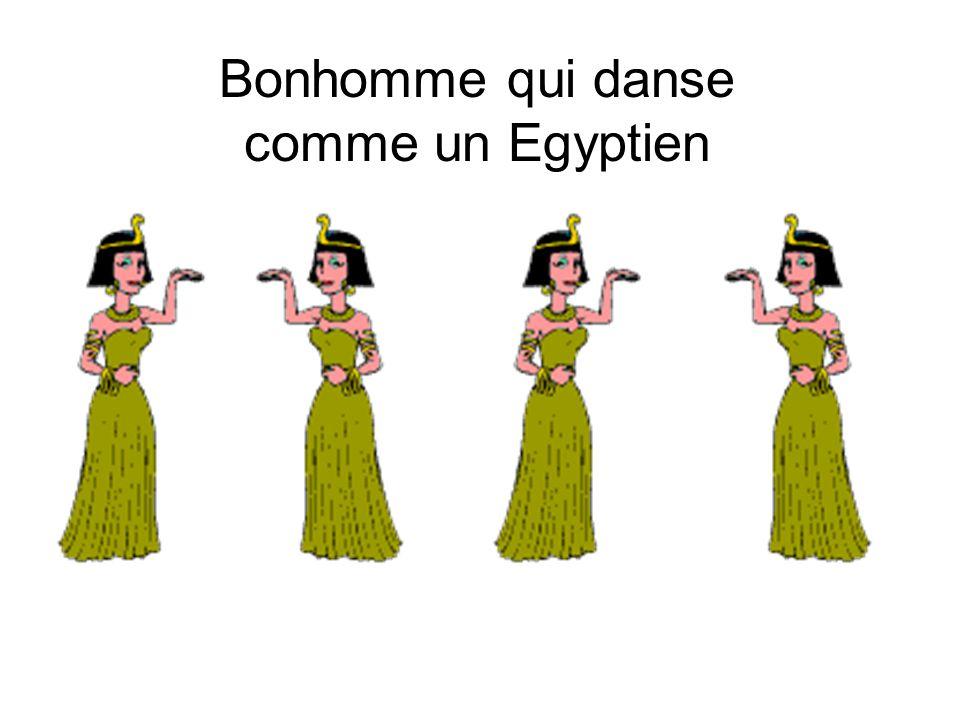 Bonhomme qui danse comme un Egyptien