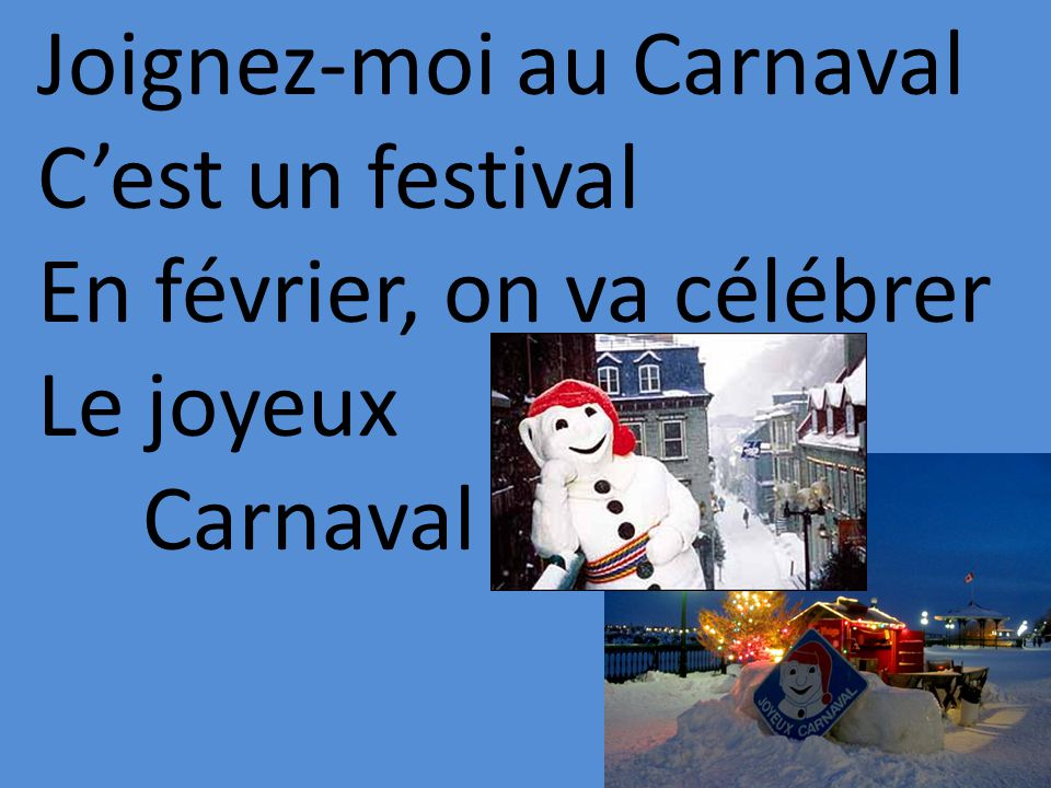 Joignez-moi au Carnaval Cest un festival En février, on va célébrer Le joyeux Carnaval