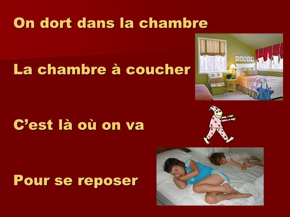 On dort dans la chambre La chambre à coucher On y dort Cest vrai!