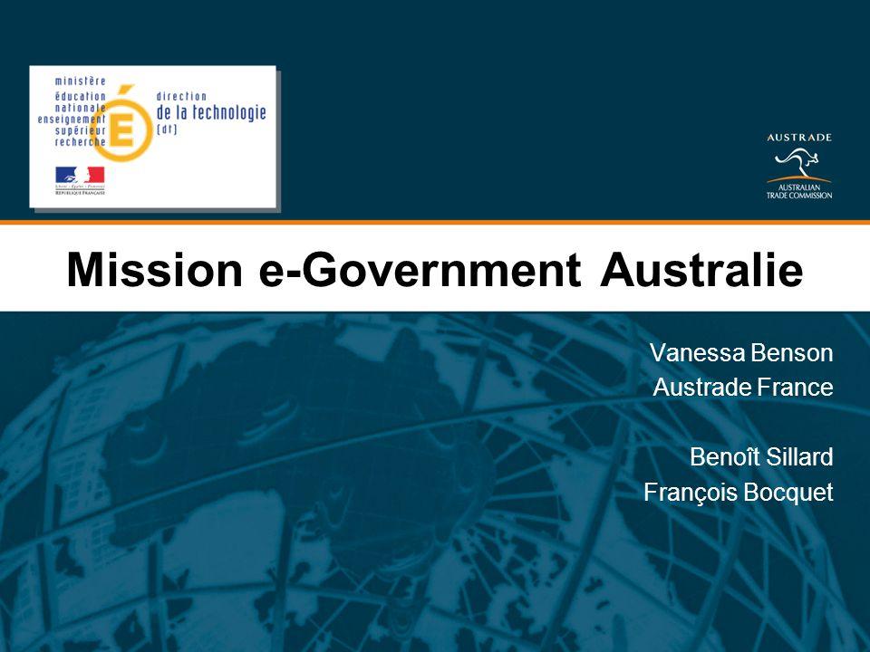 Mission e-Government Australie Vanessa Benson Austrade France Benoît Sillard François Bocquet