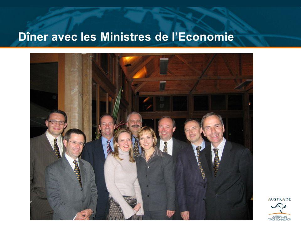 Dîner avec les Ministres de lEconomie