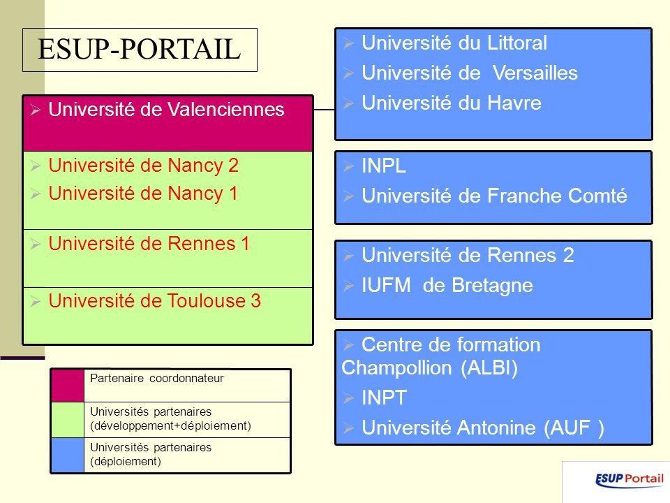 Université de Toulouse 3 Université de Rennes 1 Université de Nancy 2 Université de Nancy 1 Université de Valenciennes Université du Littoral Universi