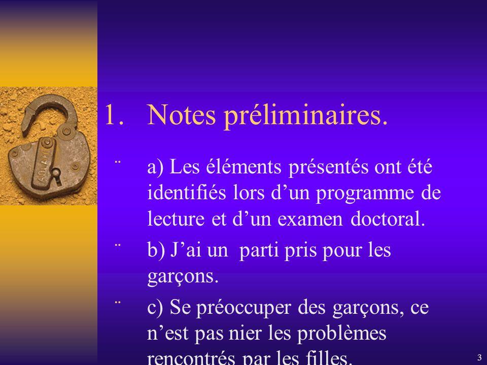 3 1.Notes préliminaires.