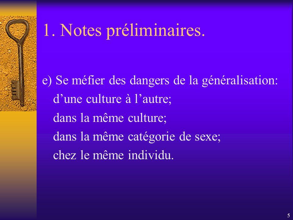 5 1.Notes préliminaires.