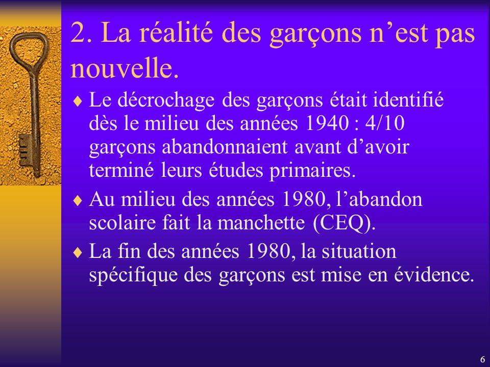 46 4.B) Laspect psycho-social. Mais y a-t-il des valeurs féminines à lécole primaire.