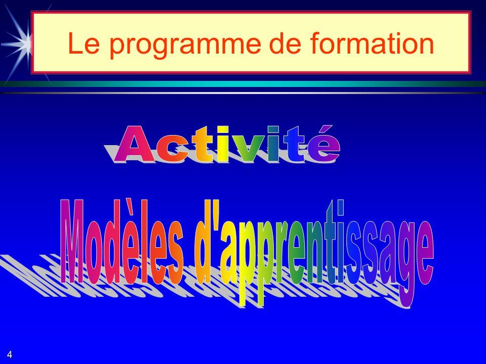 è Contenu de latelier # 3 è Le « pourquoi » des programmes par compétences.