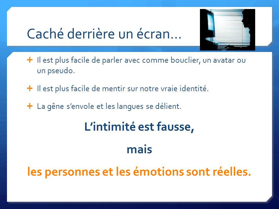 Caché derrière un écran… Il est plus facile de parler avec comme bouclier, un avatar ou un pseudo.