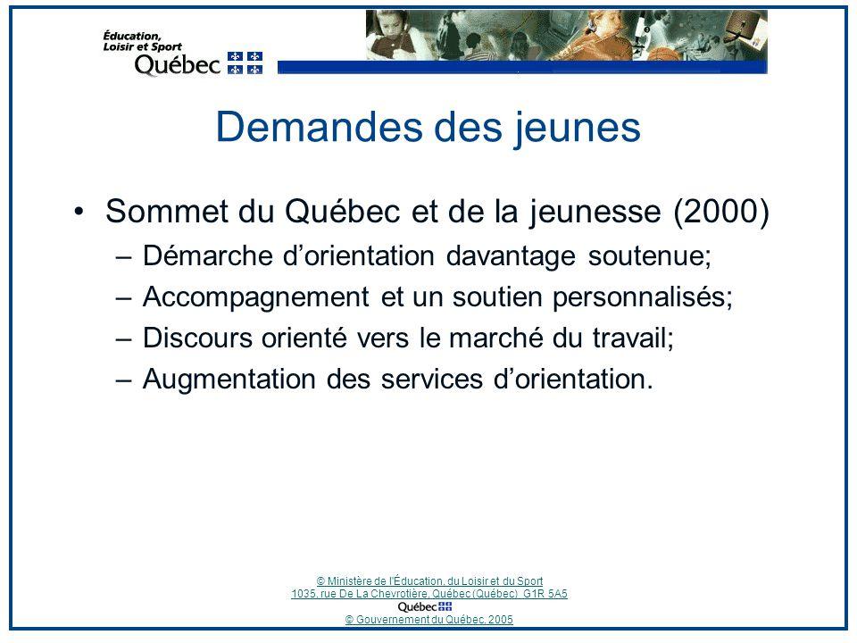 © Ministère de l Éducation, du Loisir et du Sport 1035, rue De La Chevrotière, Québec (Québec) G1R 5A5 © Gouvernement du Québec, 2005 Lélève de 1 re secondaire en 2005-2006…Quand?