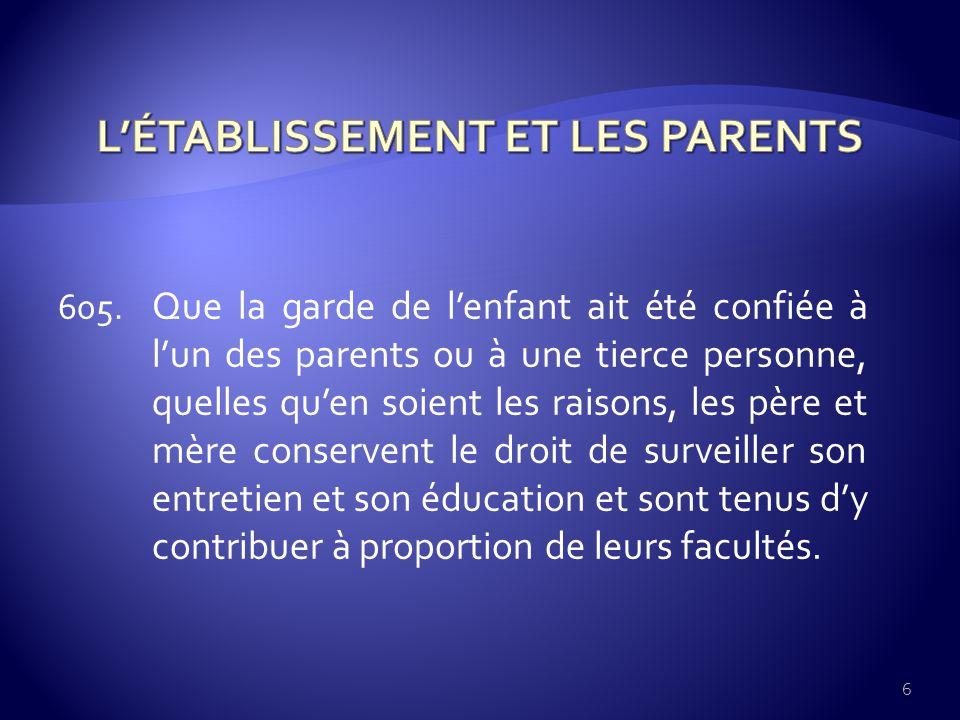 CONCERNANT LES GRANDS-PARENTS 611.