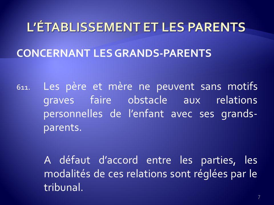 CONCERNANT LES BEAUX-PARENTS 8