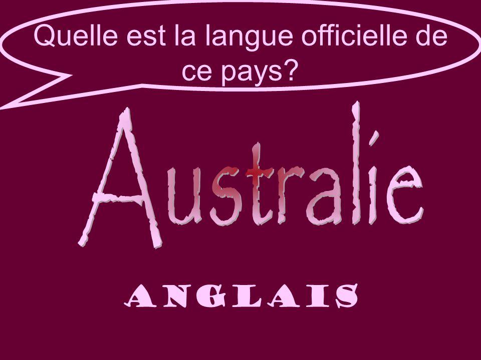 Quelle est la langue officielle de ce pays anglais