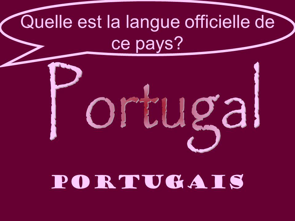 Quelle est la langue officielle de ce pays portugais