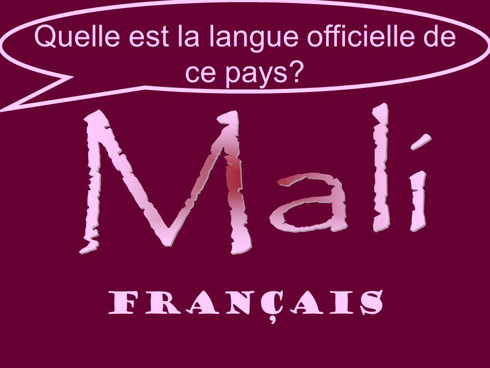 Quelle est la langue officielle de ce pays FRANÇAIS