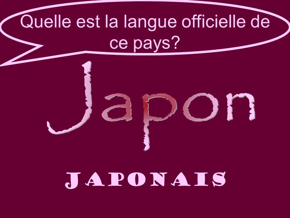 Quelle est la langue officielle de ce pays japonais