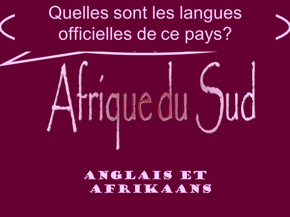 Quelle est la langue officielle de ce pays.