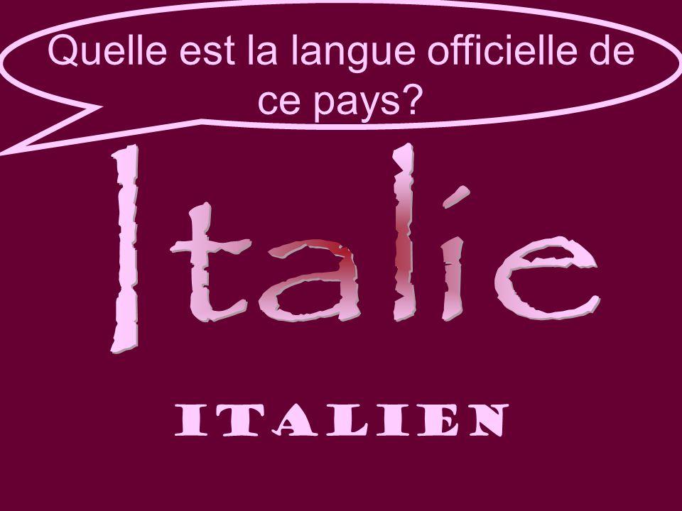 Quelle est la langue officielle de ce pays italien