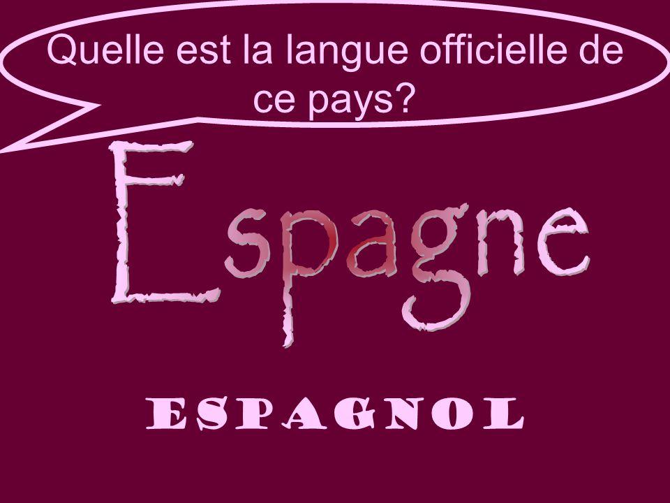 Quelle est la langue officielle de ce pays Espagnol