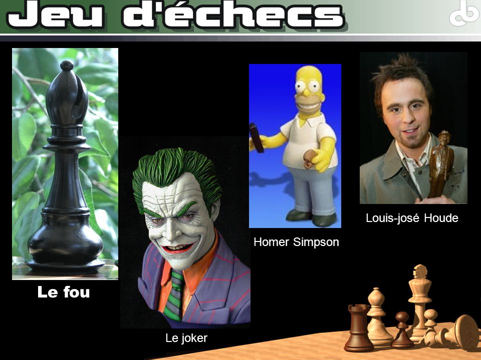 Le fou Louis-josé Houde Homer Simpson Le joker