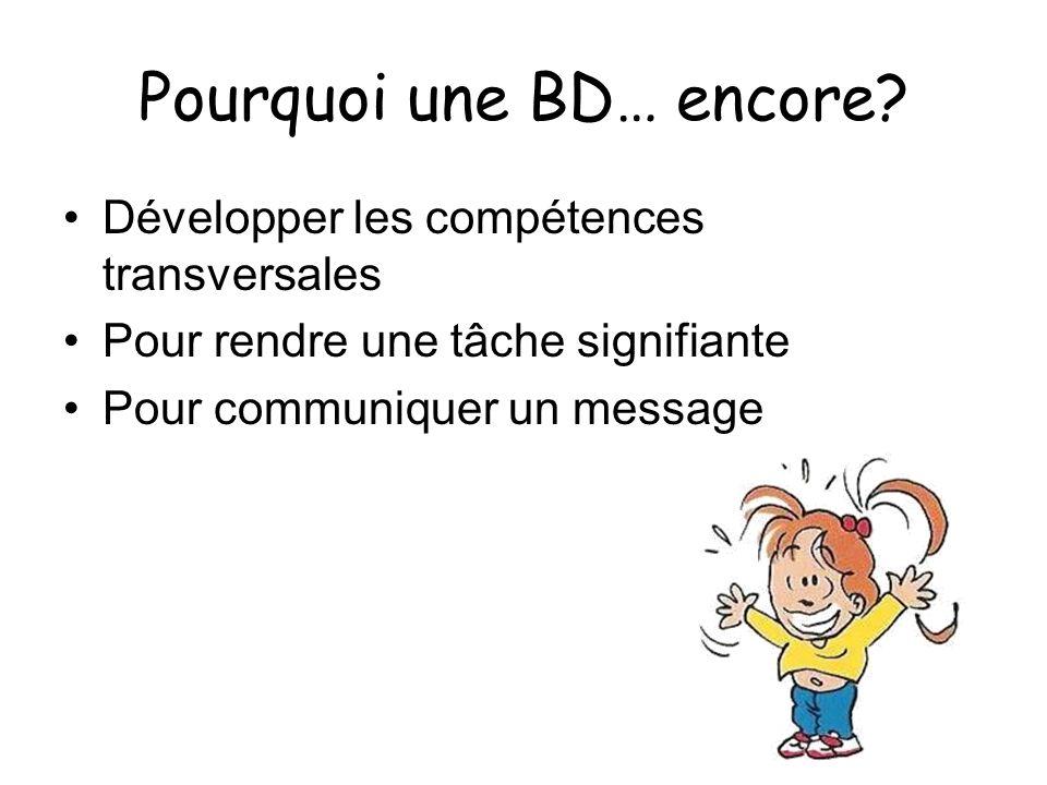 LABC de la BD Observer les différents éléments dune BD Comparer différents types de BD