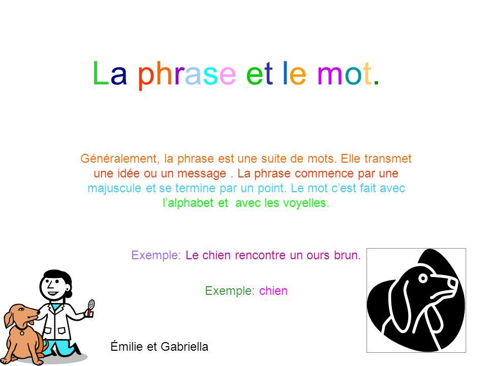 La phrase et le mot.La phrase et le mot.Généralement, la phrase est une suite de mots.