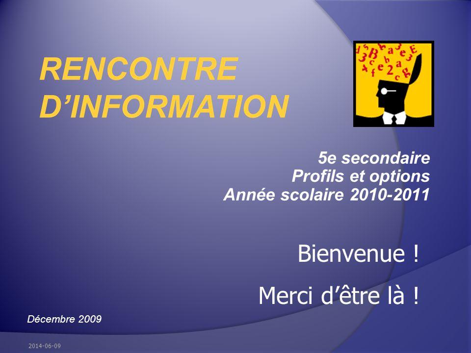 Au menu La maquette de cours prévue Tronc commun Profils Prérequis Options Choix à effectuer