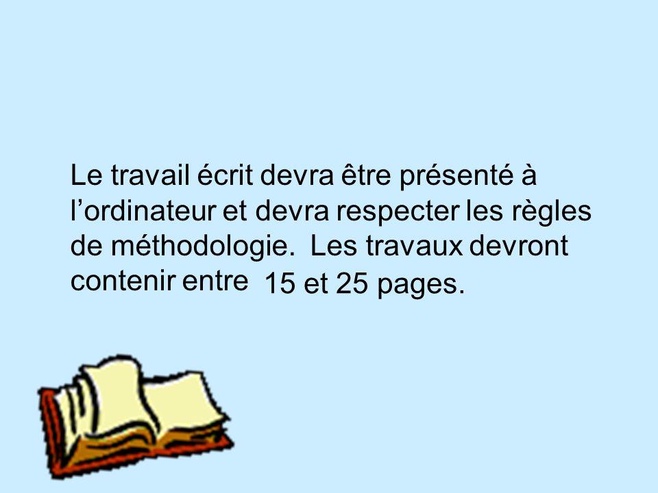 Exigences Le texte descriptif est divisé en aspects et sous aspects. Trois aspects devront obligatoirement être traités pour chacun des thèmes. Les as