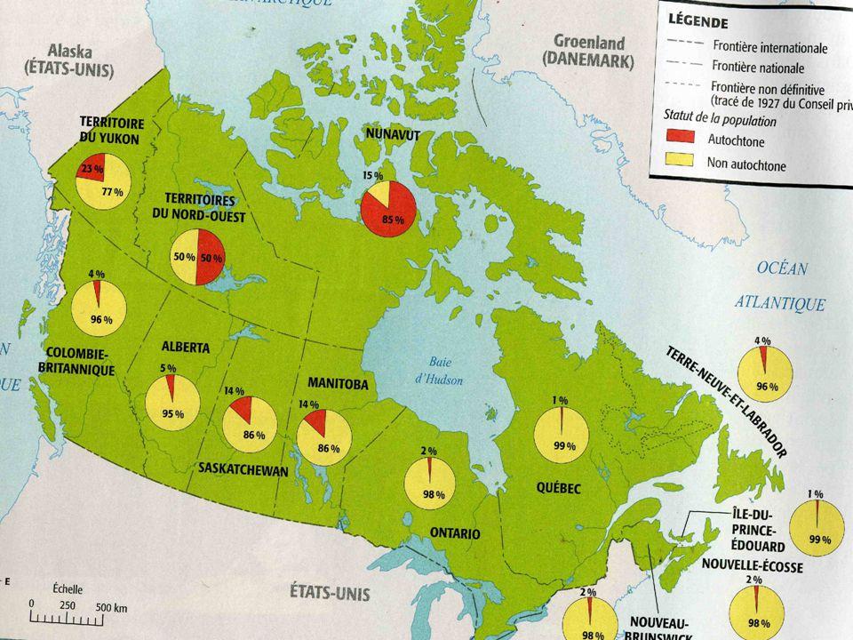 Le Québec compte deux peuples autochtones: Les Inuits et les Amérindiens ( ou Premières Nations) AlgonquienneIroquoïenne
