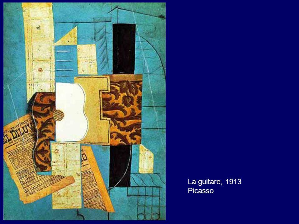 La guitare, 1913 Picasso