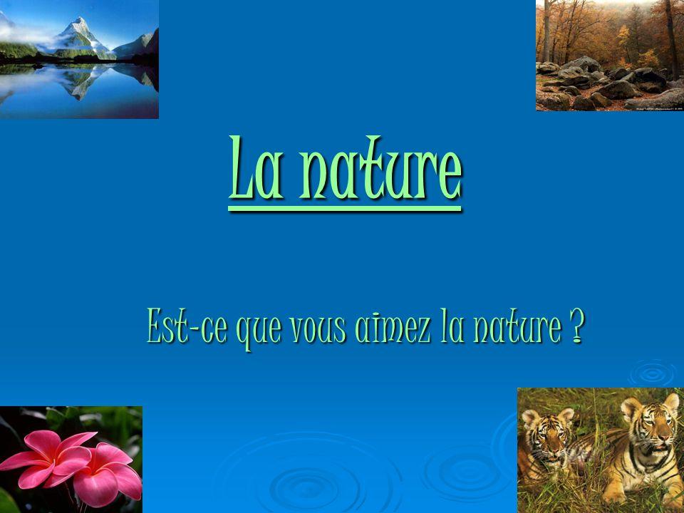 La nature Est-ce que vous aimez la nature ?
