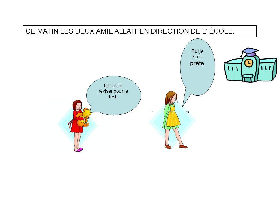 CE MATIN LES DEUX AMIE ALLAIT EN DIRECTION DE L ÉCOLE.