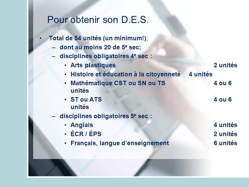 Un élève du Collège Bourget En 3 e sec Anglais 4/6 Arts plast.3 ÉCR (5 e )2 ÉPS2 Expl.