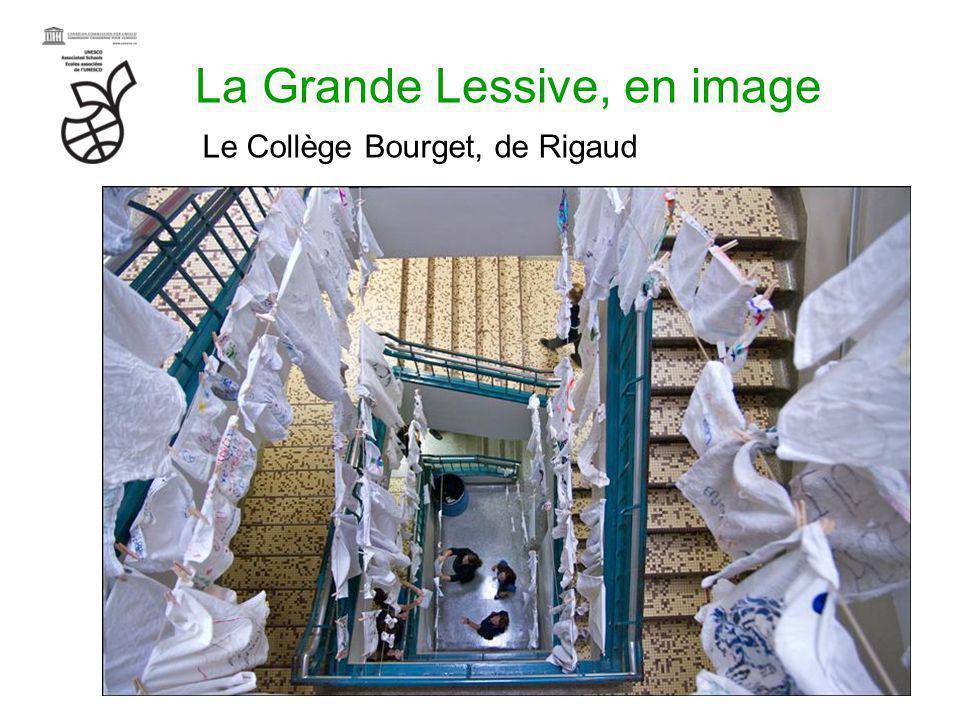 La Grande Lessive, en image Le Collège Bourget, de Rigaud