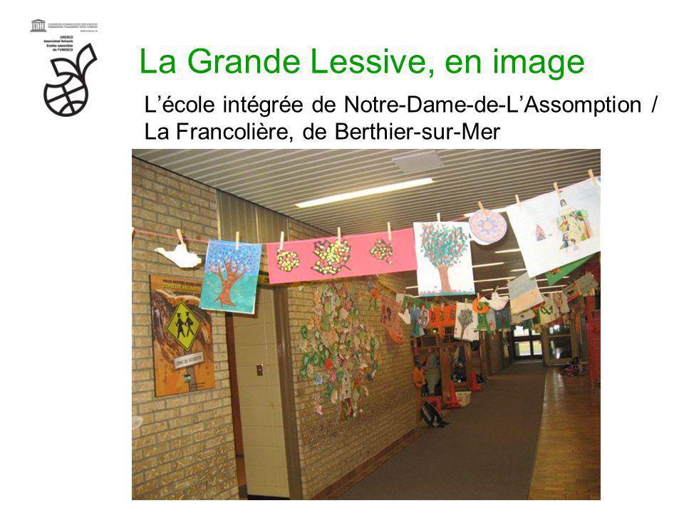 La Grande Lessive, en image Lécole intégrée de Notre-Dame-de-LAssomption / La Francolière, de Berthier-sur-Mer