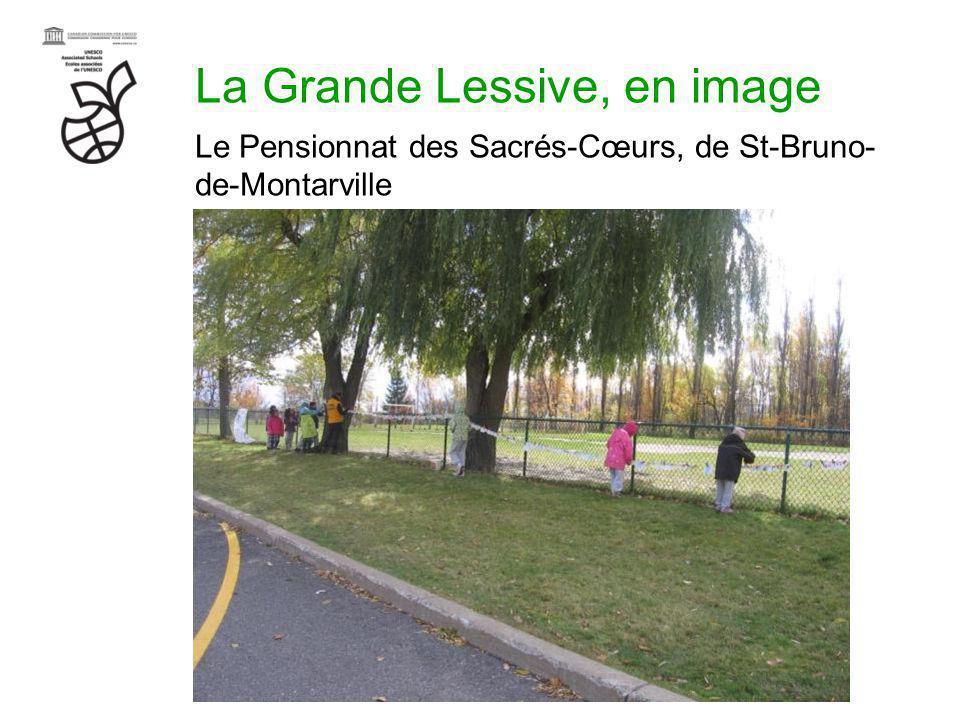 La Grande Lessive, en image Le Pensionnat des Sacrés-Cœurs, de St-Bruno- de-Montarville