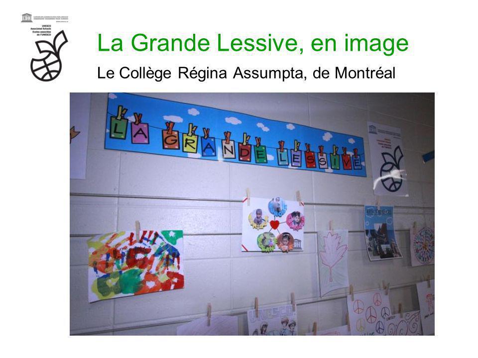 La Grande Lessive, en image Le Collège Régina Assumpta, de Montréal