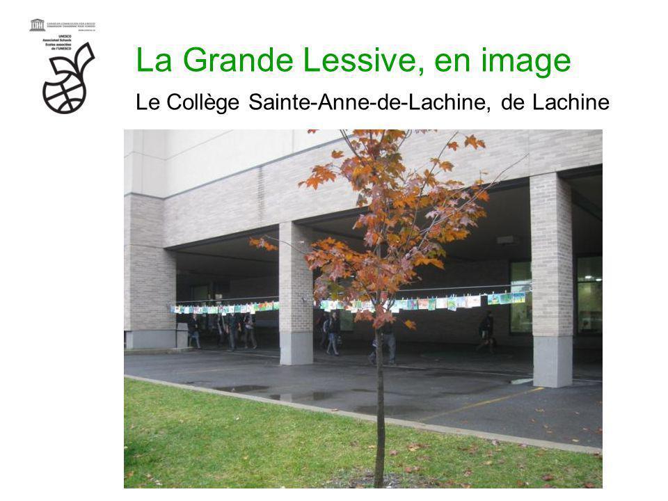 La Grande Lessive, en image Le Collège Sainte-Anne-de-Lachine, de Lachine