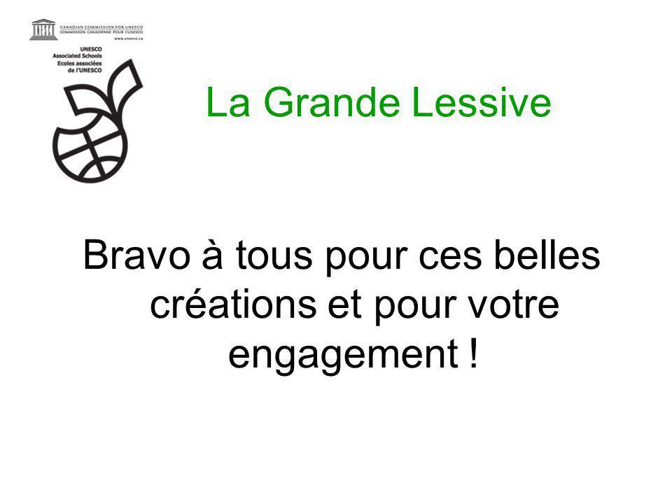 La Grande Lessive Bravo à tous pour ces belles créations et pour votre engagement !
