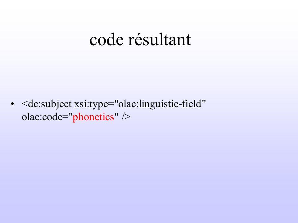 code résultant