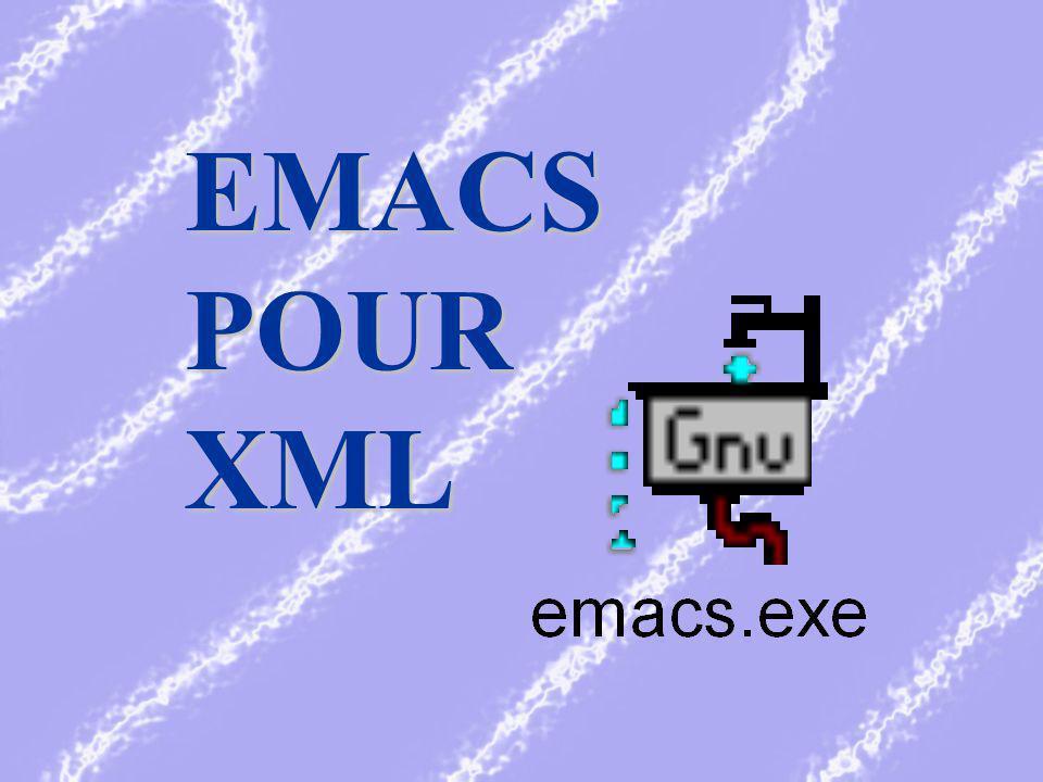 EMACS POUR XML