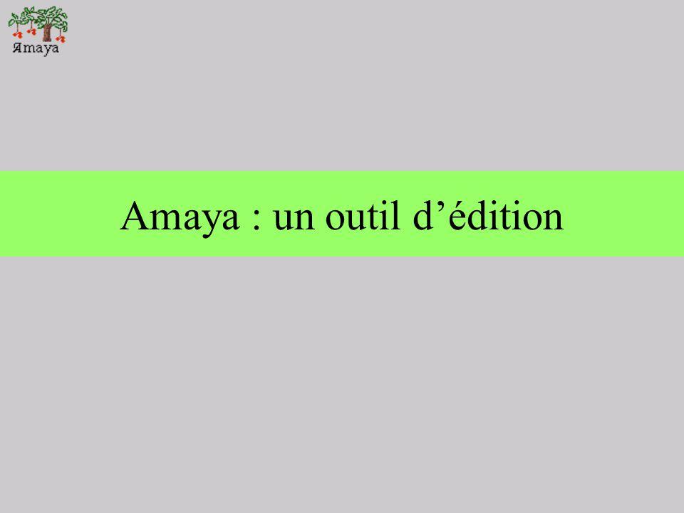 3 - Navigation dans Amaya Avec une feuille de style CSS associé :