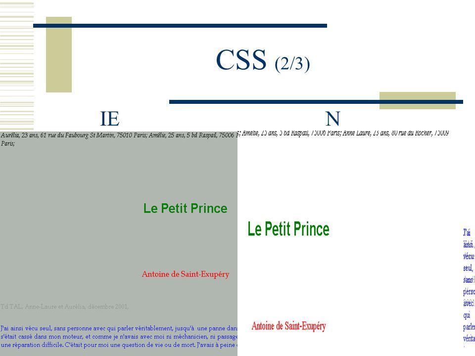 CSS (2/3) IE N