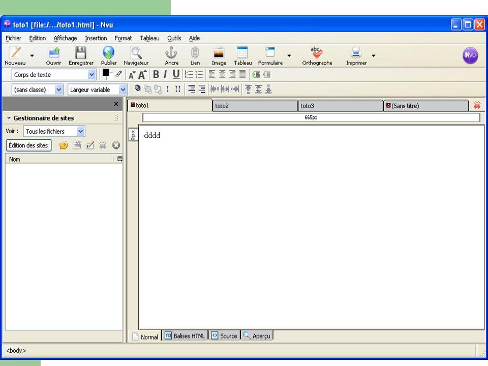Méthode proposée ici … Pour créer des pages Web, nous allons garder exactement la même méthode que celle qui nous sert à créer des documents avec un traitement de texte (Word ou Powerpoint).