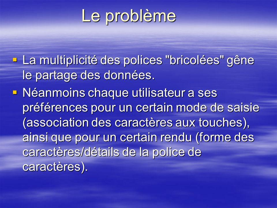 Le problème La multiplicité des polices