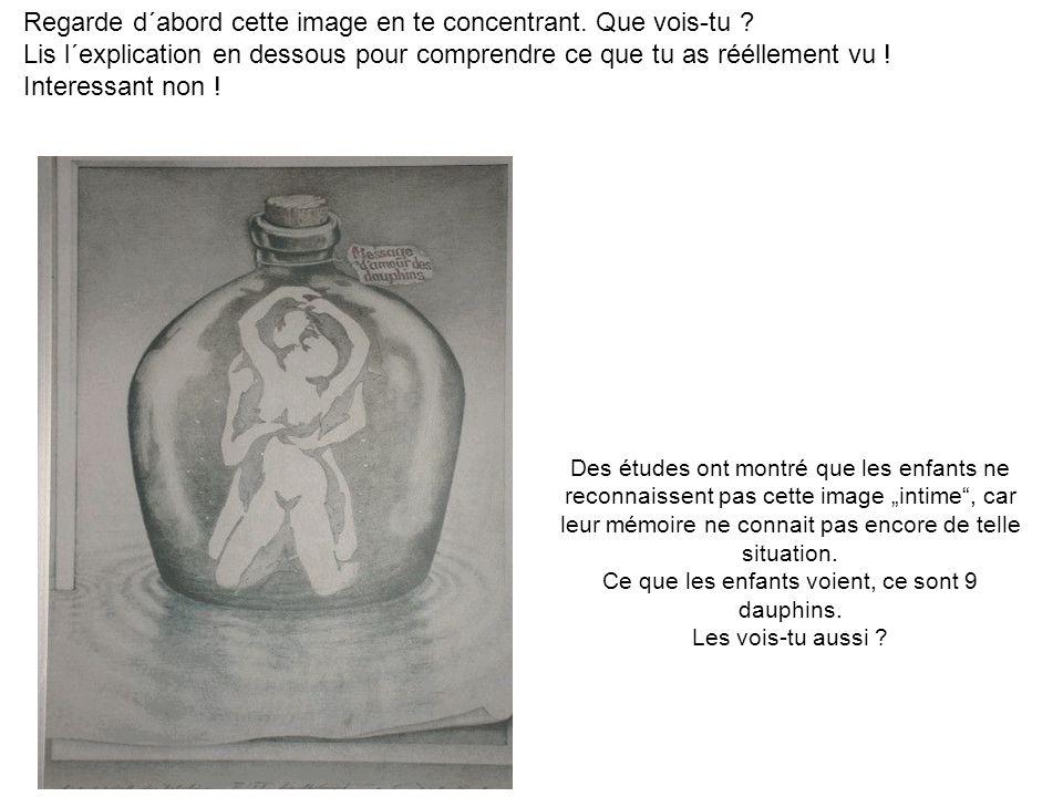 Regarde d´abord cette image en te concentrant. Que vois-tu ? Lis l´explication en dessous pour comprendre ce que tu as rééllement vu ! Interessant non