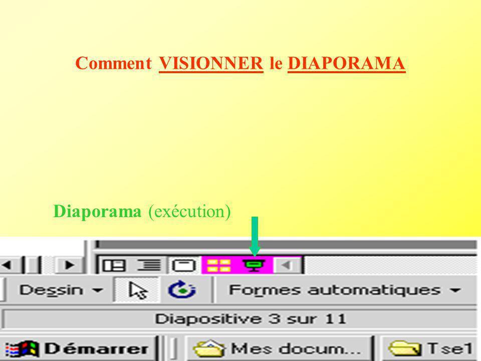 Clic bouton droit dans la diapo Affichage et choix des paramètres de transition