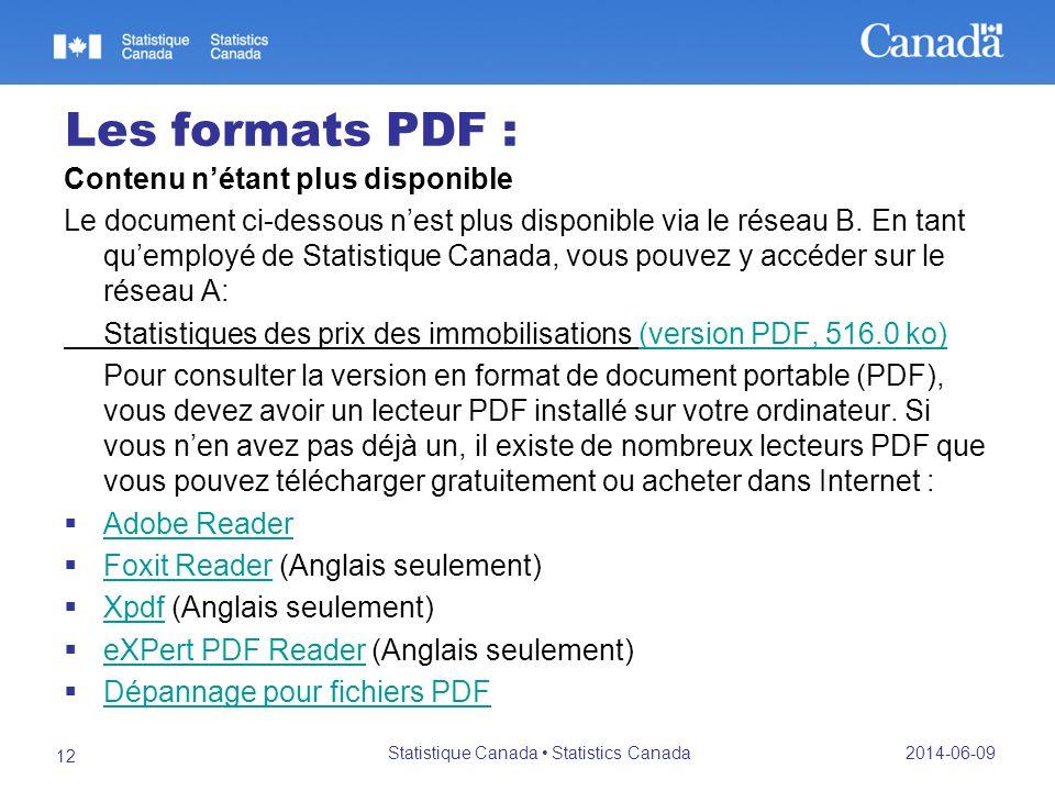 Les formats PDF : Contenu nétant plus disponible Le document ci-dessous nest plus disponible via le réseau B.