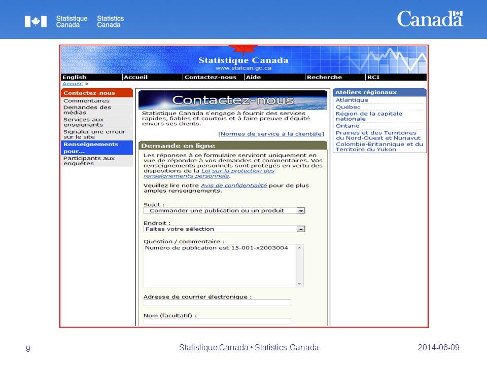 2014-06-09 Statistique Canada Statistics Canada 9