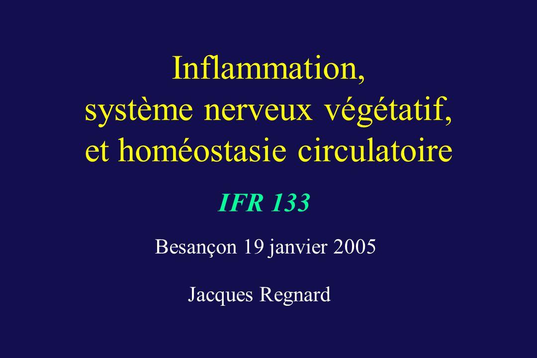 Inflammation, système nerveux végétatif, et homéostasie circulatoire IFR 133 Besançon 19 janvier 2005 Jacques Regnard