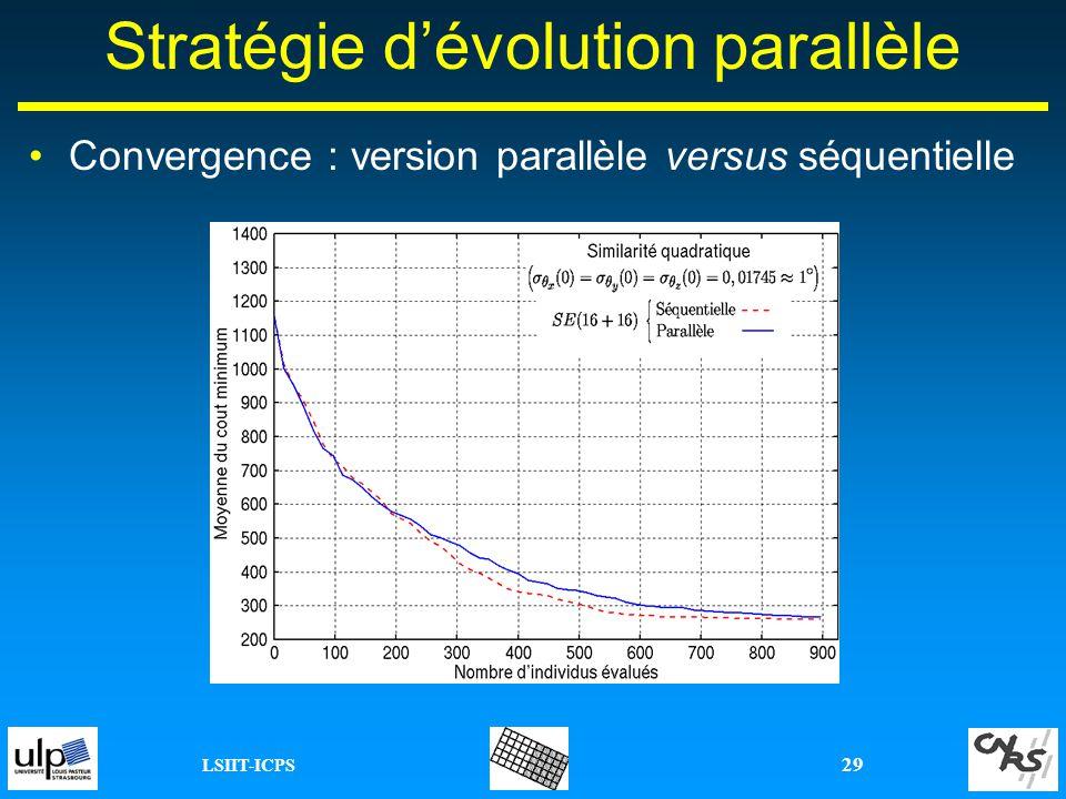 LSIIT-ICPS 29 Stratégie dévolution parallèle Convergence : version parallèle versus séquentielle